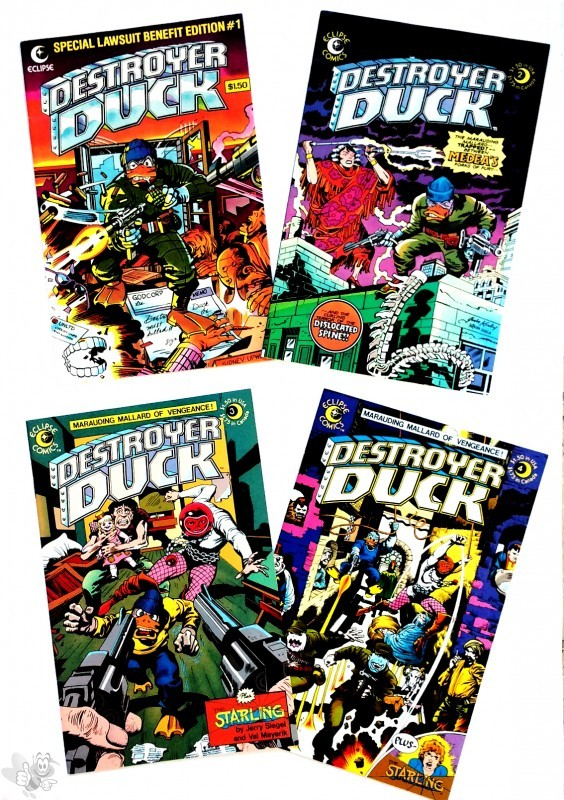 Destroyer Duck Heft 1-4, US Comics, Eclipse Verlag