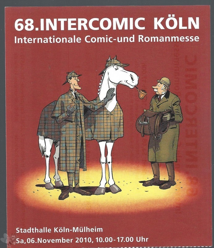 Eintrittskarte 68. INTERCOMIC 6. Nov. 2010 Götze Köln