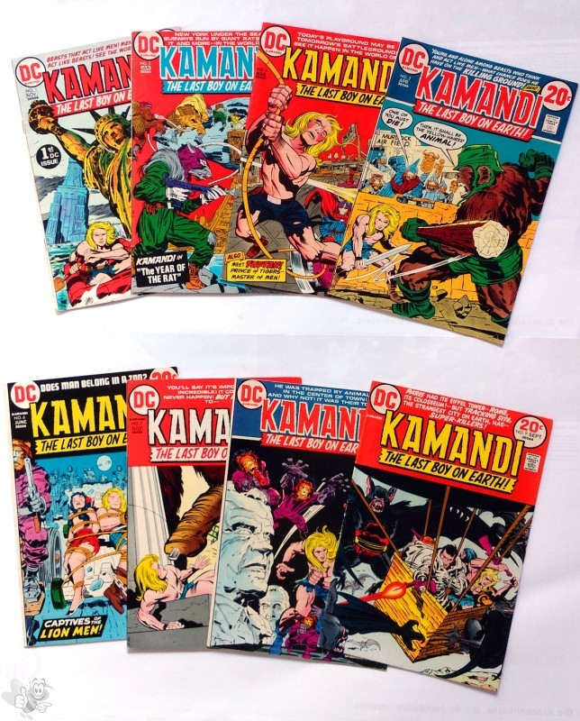 KAMANDI - The Last Boy On Earth!by Jack Kirby, Konvolut 35 Hefte