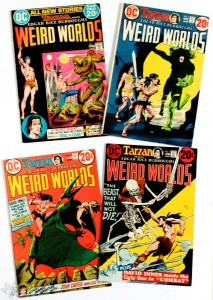 WEIRD WORLDS, DC US, Comic Konvolut: Nr. 1-3, 5-10. 1972-1974