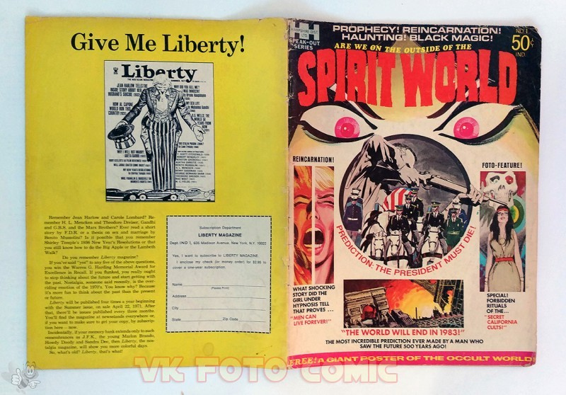 SPIRIT WORLD, US-Mag, drawn by Jack Kirby, 1971, rare