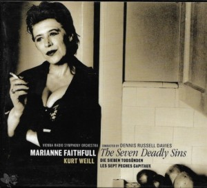 "Marianne Faithfull - ""The seven deadly sins"""