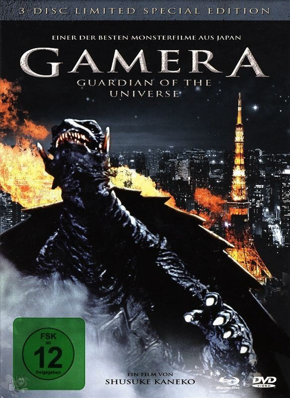 Gamera - Guardian of the Universe (3-Disc Lim. Special Edition, 2 DVD's+Blu-ray)