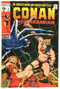 Conan the Barbarian Nr. 4 US Marvel 1970