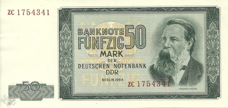 DDR Banknote 50 Mark