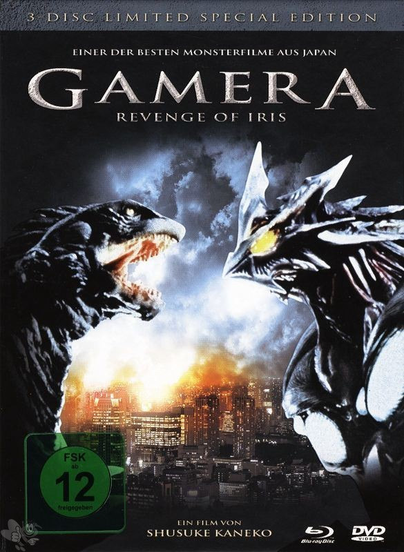Gamera 3 - Revenge of Iris (3-Disc Limited Special Edition, 2 DVD's + Blu-Ray)