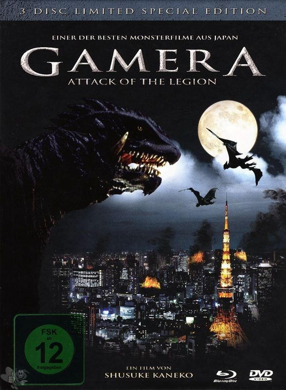 Gamera 2 - Attack of the Legion (3-Disc Lim. Special Edition, 2 DVD's + Blu-Ray)