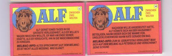 ALF - Sammelkarte # 42 44, Tupps Chewing Gum, Alien Productions, 1987