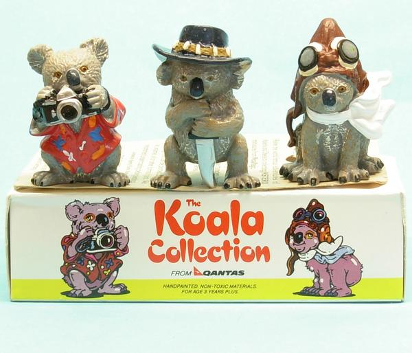 QUANTAS - Koala Collection : Serie kpl. 3 Figuren in Box